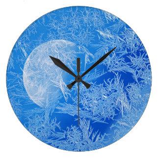 Winter Blue Moon Creative Photography Large Clock