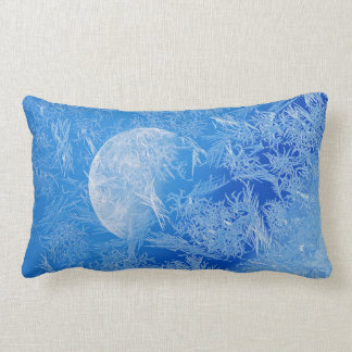 Winter Blue Moon Creative Photography Lumbar Pillow