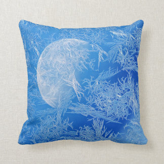 Winter Blue Moon Creative Photography Throw Pillow