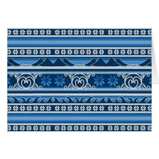 Winter Blue Nordic Design Card