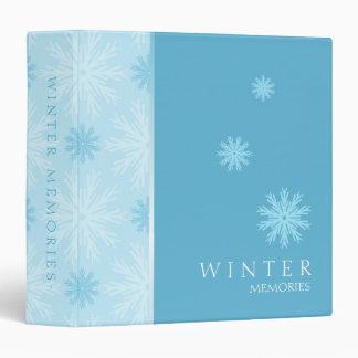 Winter Blue Snowflakes binder