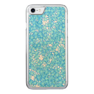 Winter Blue Stars Pastel Kawaii Carved iPhone 7 Case