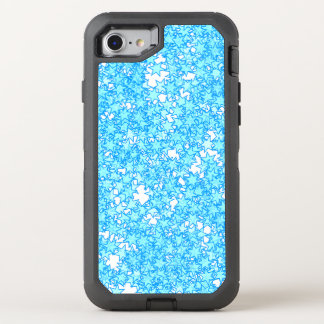 Winter Blue Stars Pastel Kawaii OtterBox Defender iPhone 8/7 Case