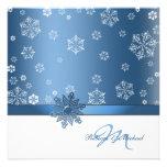 Winter Blue & White Snowflake Wedding Invites