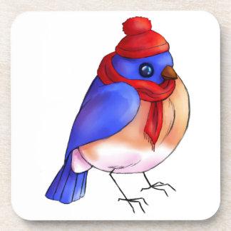 Winter Bluebird Coasters