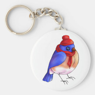 Winter Bluebird Keychain