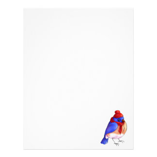 Winter Bluebird Letterhead