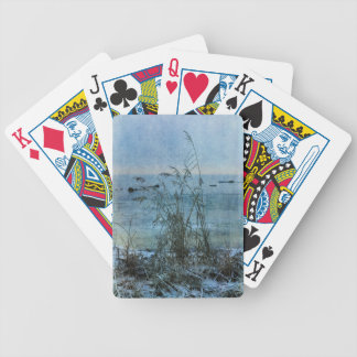 Winter Blues Bicycle Playing Cards