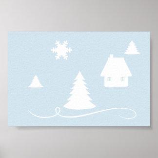 Winter Blues  Light Blue Poster