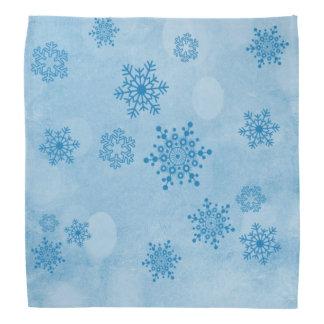 Winter bokeh, blue bandanas