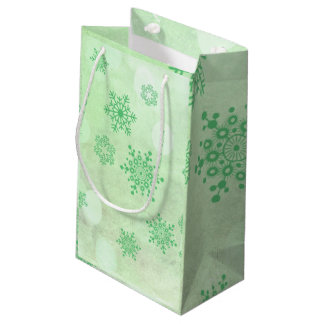 winter Bokeh green Small Gift Bag