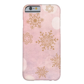 winter Bokeh pink Barely There iPhone 6 Case