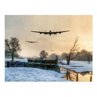 Winter Bombers Postcard