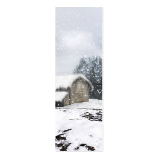 Winter Bookmark Business Card Templates