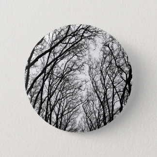Winter branches 2 inch round button
