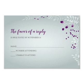 Winter Branches Wedding RSVP Card