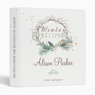 Winter branches wreath watercolor rustic recipes vinyl binders