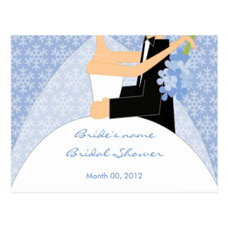 Winter Bridal Shower Advice Cards Postcard