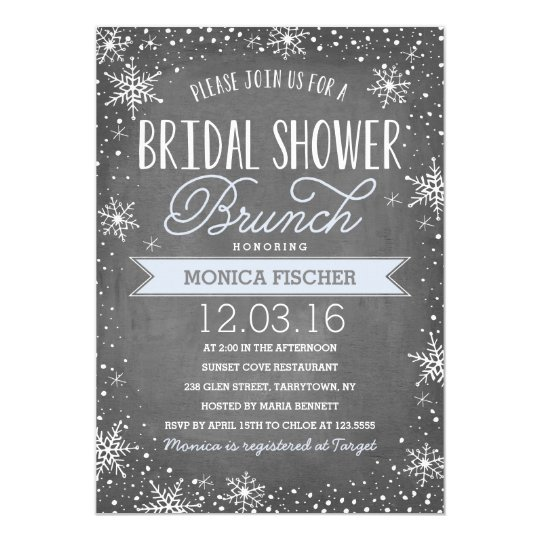Winter Bridal Shower Card