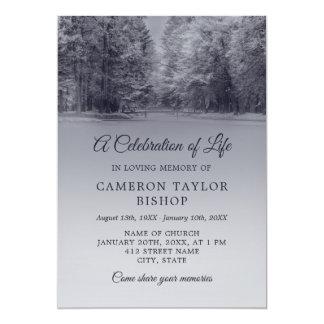 Winter Bridge Celebration of Life Card