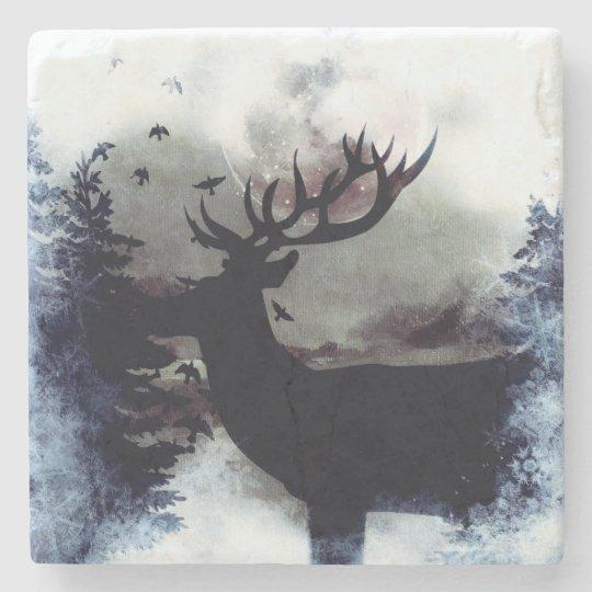 Winter Buck Marble Coaster Stone Coaster
