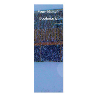 Winter Buildings Mini Business Card