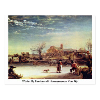 Winter By Rembrandt Harmenszoon Van Rijn Postcard