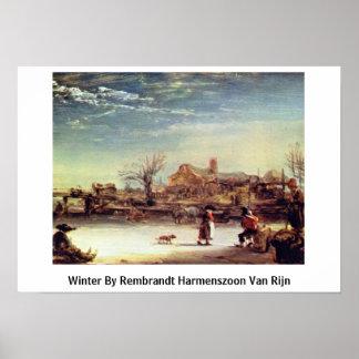 Winter By Rembrandt Harmenszoon Van Rijn Poster