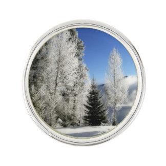 Winter by the Lake Lapel Pin
