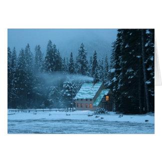 Winter Cabin Card