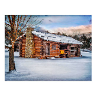 Winter Cabin Postcard