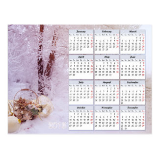 Winter Calendar For 2013 Postcards