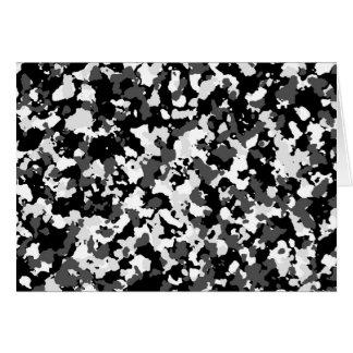 Winter camo pattern card