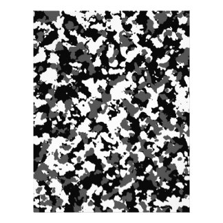 Winter camo pattern letterhead