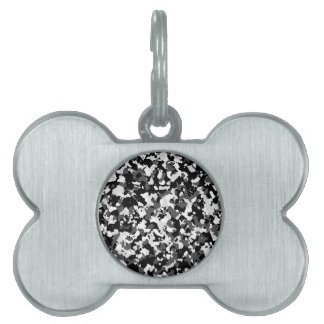 Winter camo pattern pet tag