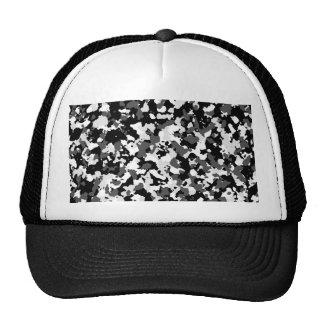 Winter camo pattern trucker hat