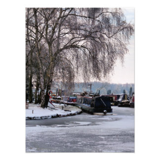 WINTER CANAL PHOTO PRINT