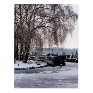 WINTER CANAL POSTCARD