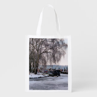 WINTER CANAL REUSABLE GROCERY BAG
