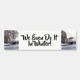 WINTER CANALS BUMPER STICKER