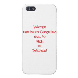 Winter cancelled due to lack of interest iPhone 5 covers