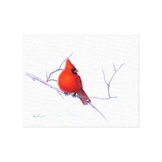 Winter Cardinal Art Canvas Print