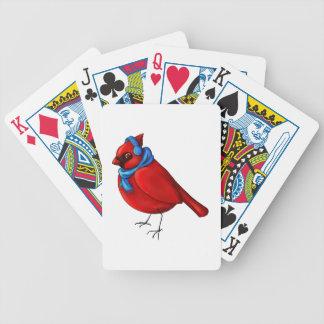 Winter Cardinal Bicycle Playing Cards