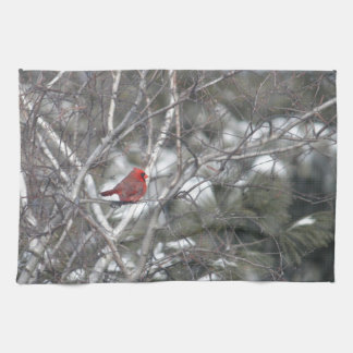 Winter Cardinal Kitchen Towel