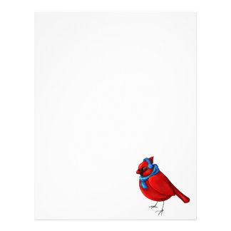 Winter Cardinal Letterhead