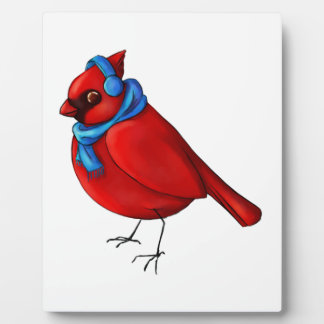 Winter Cardinal Plaque