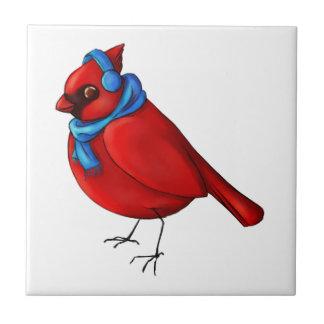 Winter Cardinal Tile