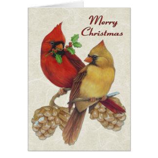 Winter Cardinals Card
