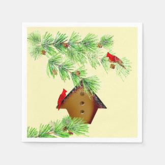 Winter Cardinals Paper Napkins