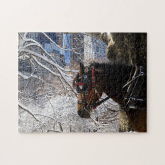 Winter Carriage Horse Jigsaw Puzzle